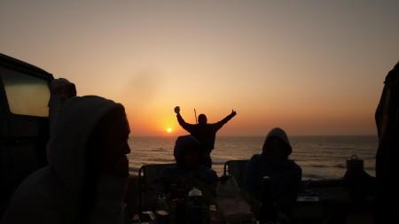 Sunset in Praia Azul