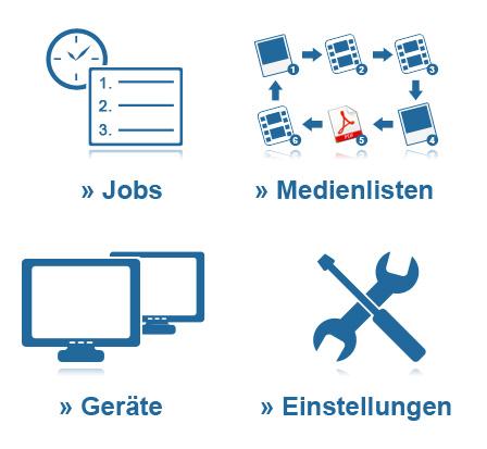 Icon Design EVISION5 Webpresenter Admin