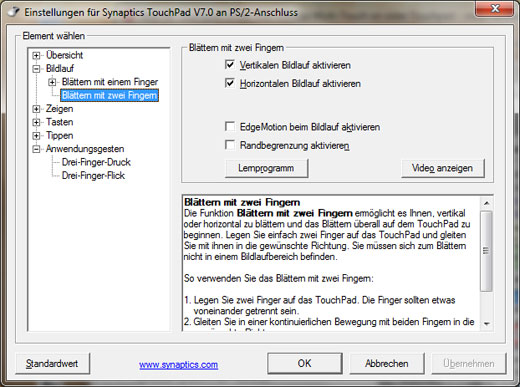 Synaptics two finger scrolling driver download - Synaptics ps 2 port touchpad driver windows 7 ...